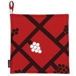 Spalj� pot holder, red - dark red - white