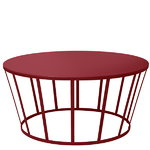 Hollo coffee table, burgundy