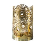Feather candleholder, brass