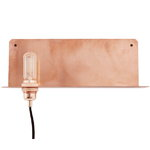 90� wall light, copper