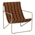 Desert lounge chair, cashmere - stripes