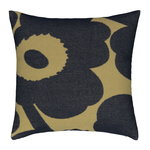 Unikko cushion cover 50 x 50 cm, olive - navy