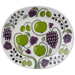 Arabia Paratiisi serving platter 36 cm, purple