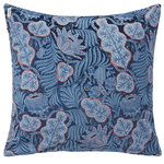 Iceflower cushion cover, velvet, blue