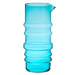 Socks rolled down pitcher, turquoise