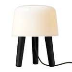 &Tradition Milk table lamp, black stained ash