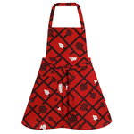 Spalj� apron, red - dark red - white