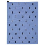 Design Letters Arne Jacobsen tea towel, Vintage ABC, blue