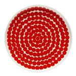 Oiva - Siirtolapuutarha lautanen 20 cm, puna-valkoinen