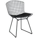 Bertoia tuoli, kromi - musta istuintyyny