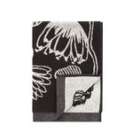 Tiara hand towel, black-white