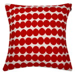 R�symatto knitted cushion cover, red-white