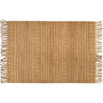 Wicker rug, natural