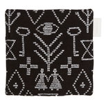Maailman synty pot holder/trivet, black