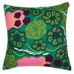 Helmikk� cushion cover, green - pink - purple