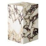 Menu Plinth table, high, Calacatta Viola marble