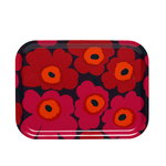 Mini Unikko tray, red-orange-plum