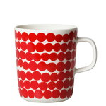 Oiva - R�symatto mug, 2,5 dl, red-white