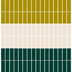 Marimekko Tiiliskivi heavyweight cotton fabric, dark green - beige - lime