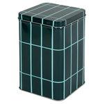 Marimekko Tiiliskivi tin box, dark green - turquoise