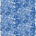 Marimekko Mynsteri fabric, white - blue