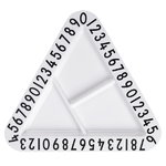 Melamine triangular snack plate