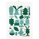 Calendar tea towel 2019, green