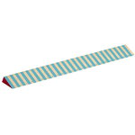Wooden ruler, thick blue stripes