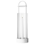 Lotus hurricane lantern, white