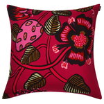 Tiara cushion cover, red-pink-green