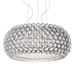Foscarini Caboche Plus pendant, large, dimmable, clear