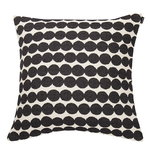 Räsymatto cushion cover, black-white
