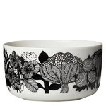 Oiva - Siirtolapuutarha bowl 5 dl, black-white