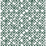 Spalj� fabric, white - green