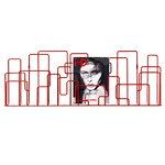 City Sunday magazine rack, red