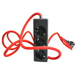 N.U.D. Collection Nud Extend 3-way extension cord, red