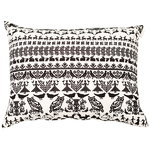 Y� mets�ss� interior pillow, large, white-black