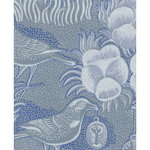 Kiurujen y� wallpaper, blue-grey