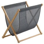 Magazine rack, oak - graphite