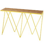 Giraffe console table, OSB/yellow