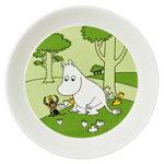 Moomin plate, Moomintroll, grass green