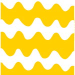 Lokki fabric, white - yellow