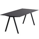 CPH10 table 160x80 cm, black oak