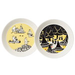 Moomin plate set, Yellow & Hurray!