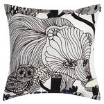 Veljekset cushion cover, black - white