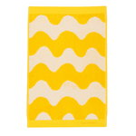 Lokki guest towel, white - yellow
