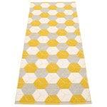 Pappelina Trip matto 70 x 240 cm, sinappi - pellava - vanilja
