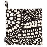N�si� pot holder, black-white