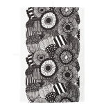 Siirtolapuutarha tea towel, black - white