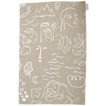 Onnenmaa tea towel/placemat, beige